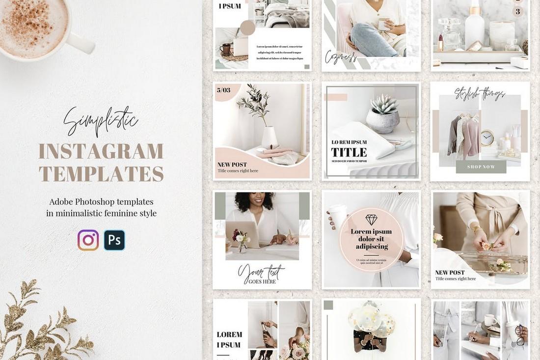 20 Feminine Instagram Banner Templates