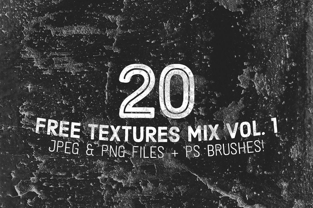 20 Free Textures & Photoshop Brushes