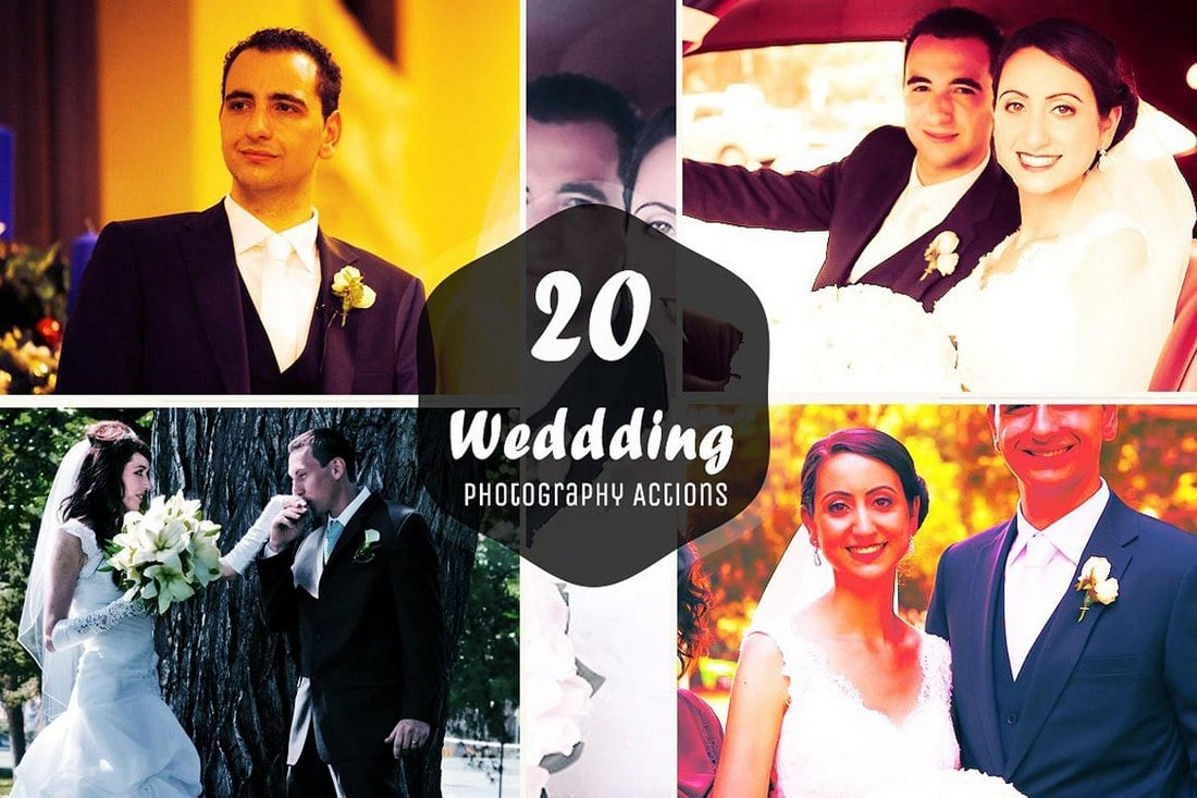20 Free Wedding Photoshop Actions v2