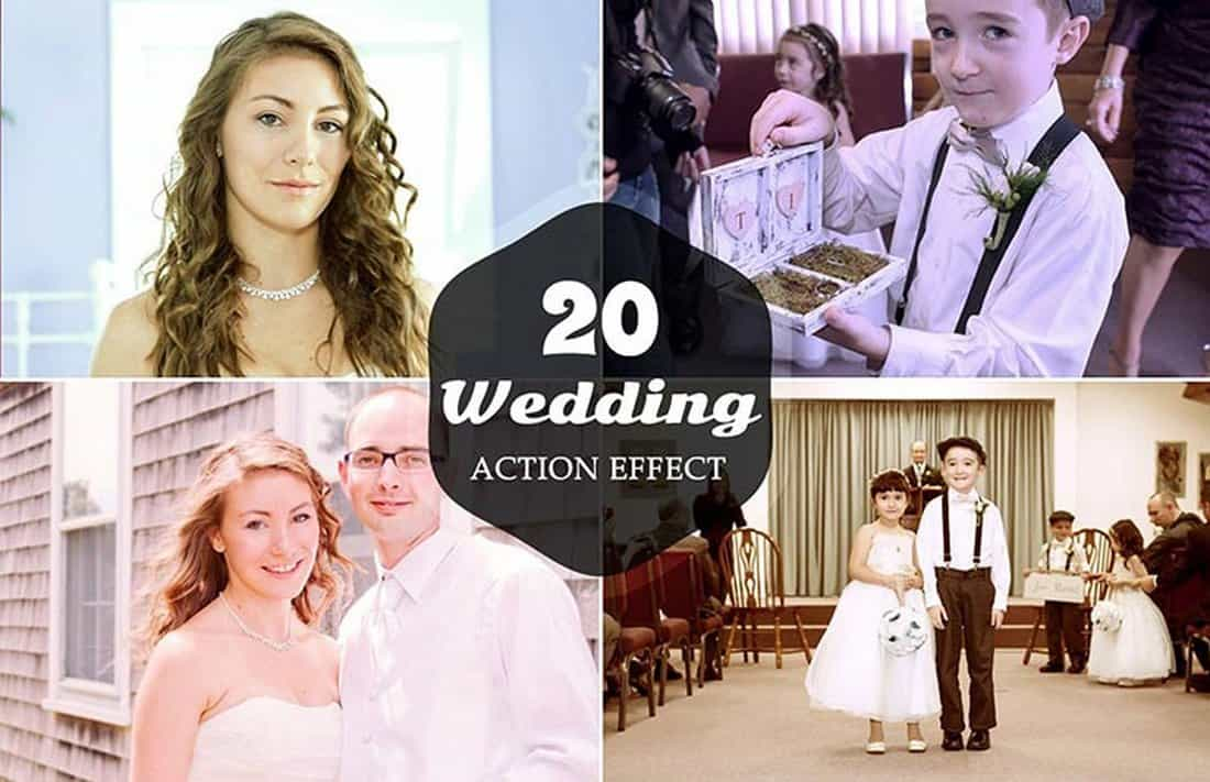 20 Free Wedding Photoshop Actions