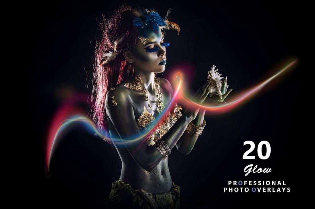 20 Glowing Effect Photo Overlays