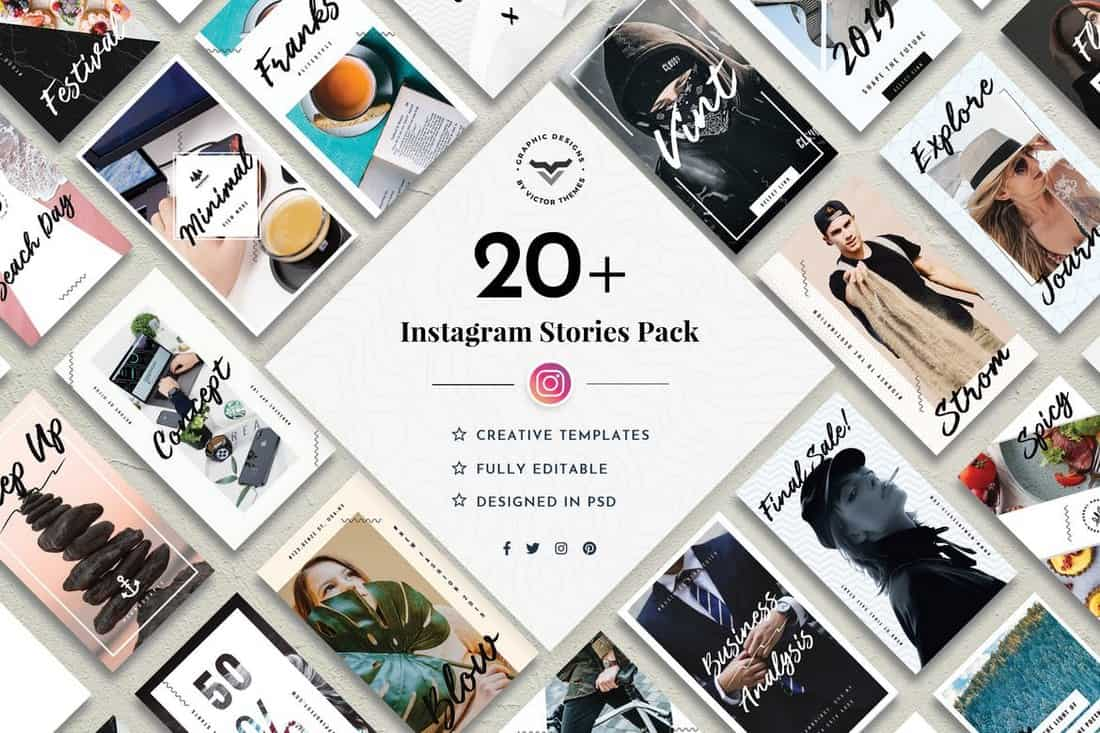 20+ Instagram Stories Templates