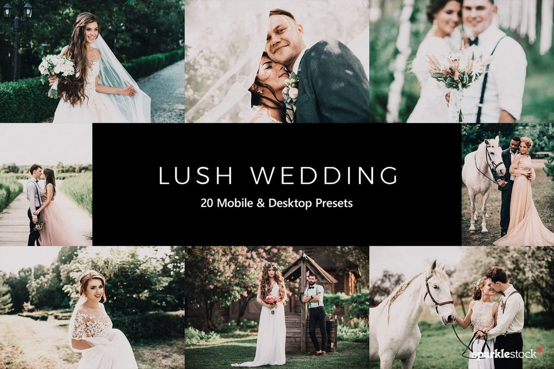 20 Lush Wedding Lightroom Presets & LUTs