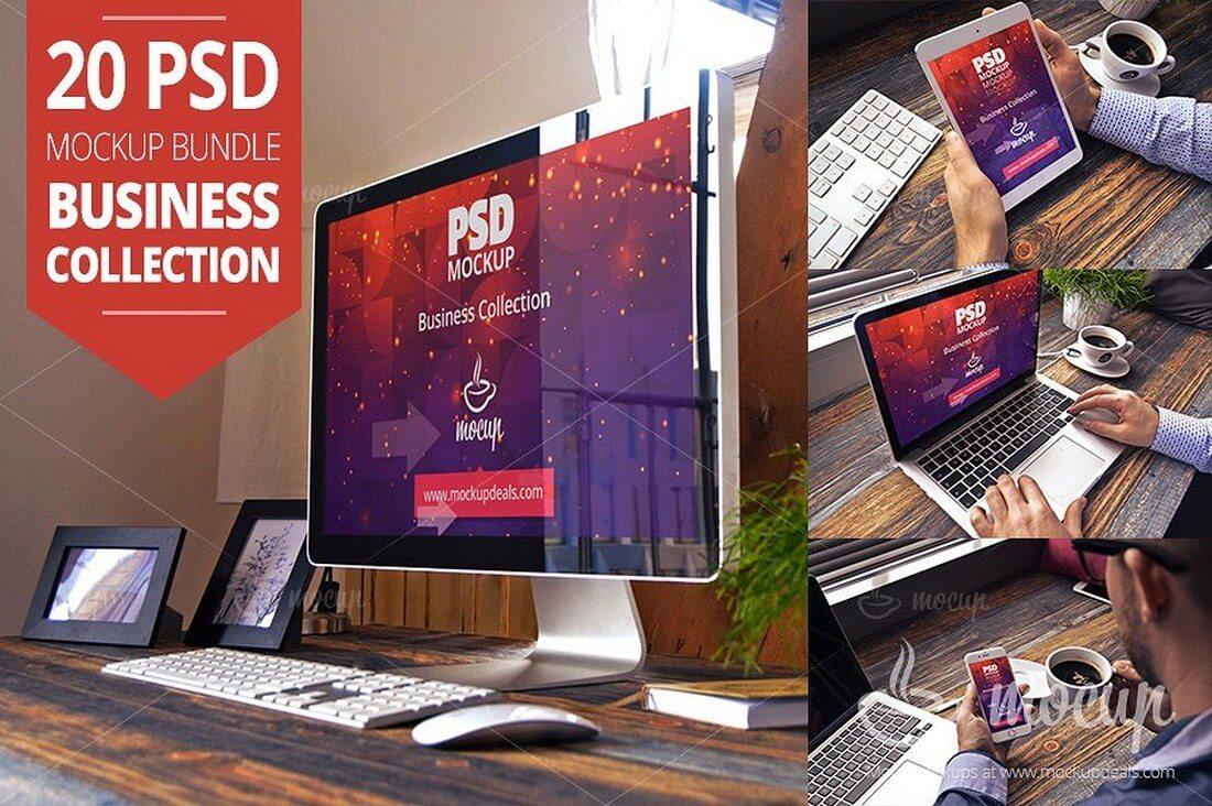 20-PSD-Mockup-Bundle-Business 100+ iPad Mockups: PSDs, Photos & Vectors design tips