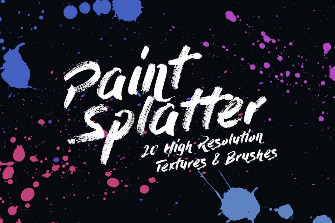 20-Paint-Splatter-Textures-and-Brushes 15+ Best Affinity Designer Brushes design tips
