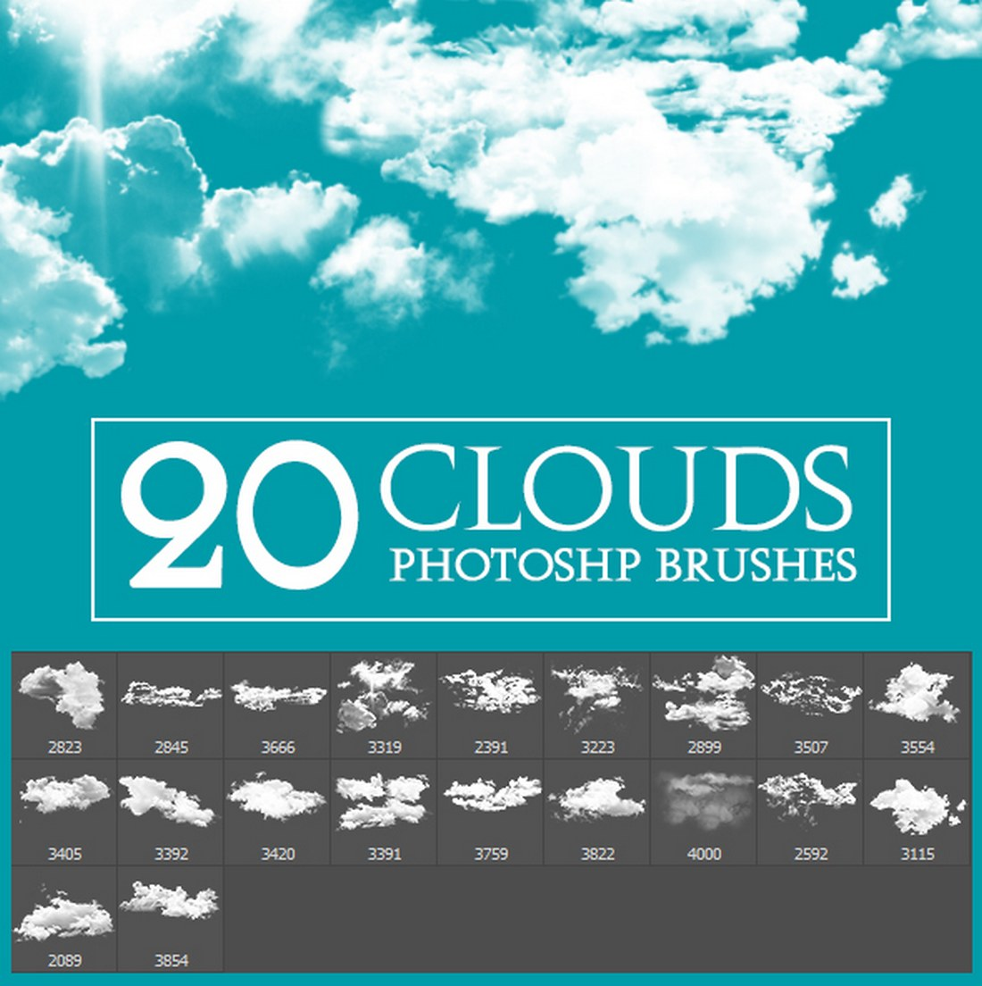 20-Photoshop-Cloud-Brushes 15+ Best Photoshop Smoke Brushes design tips