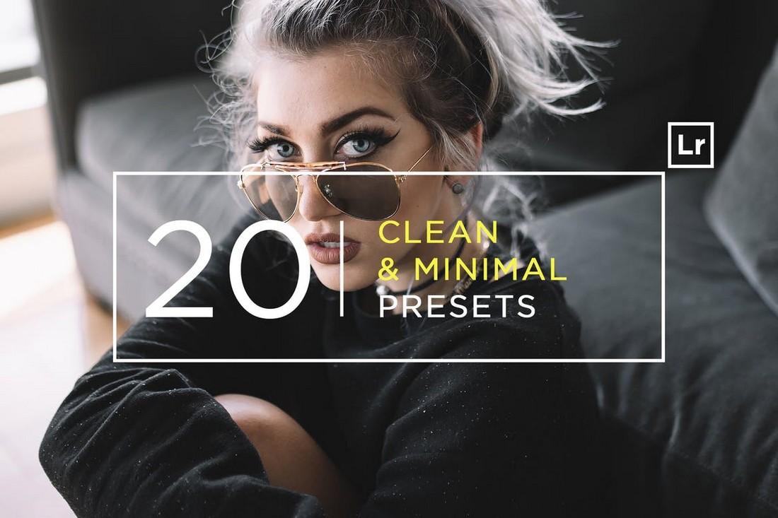 20 Pro Clean & Minimal Lightroom Presets