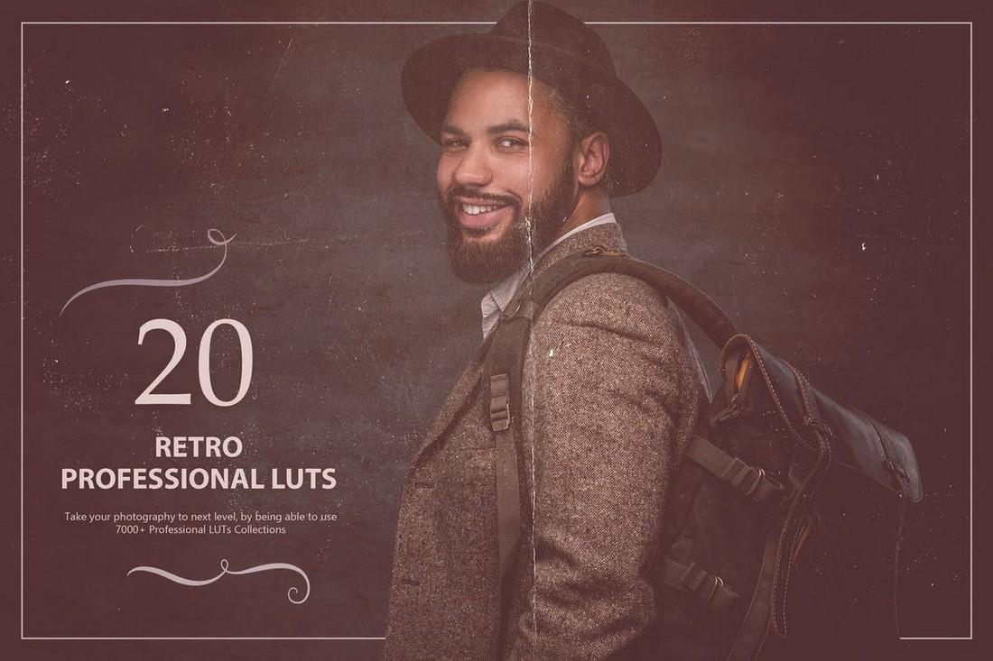 20 Retro Lightroom LUTs Pack