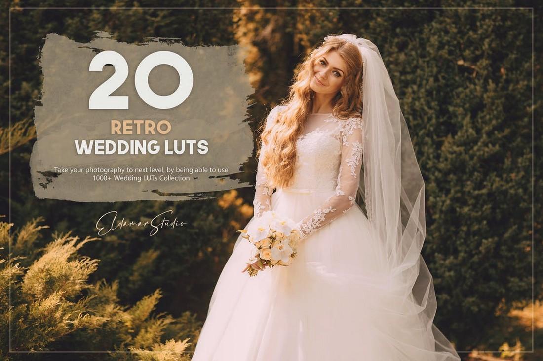20 Retro Wedding LUTs for Premiere Pro