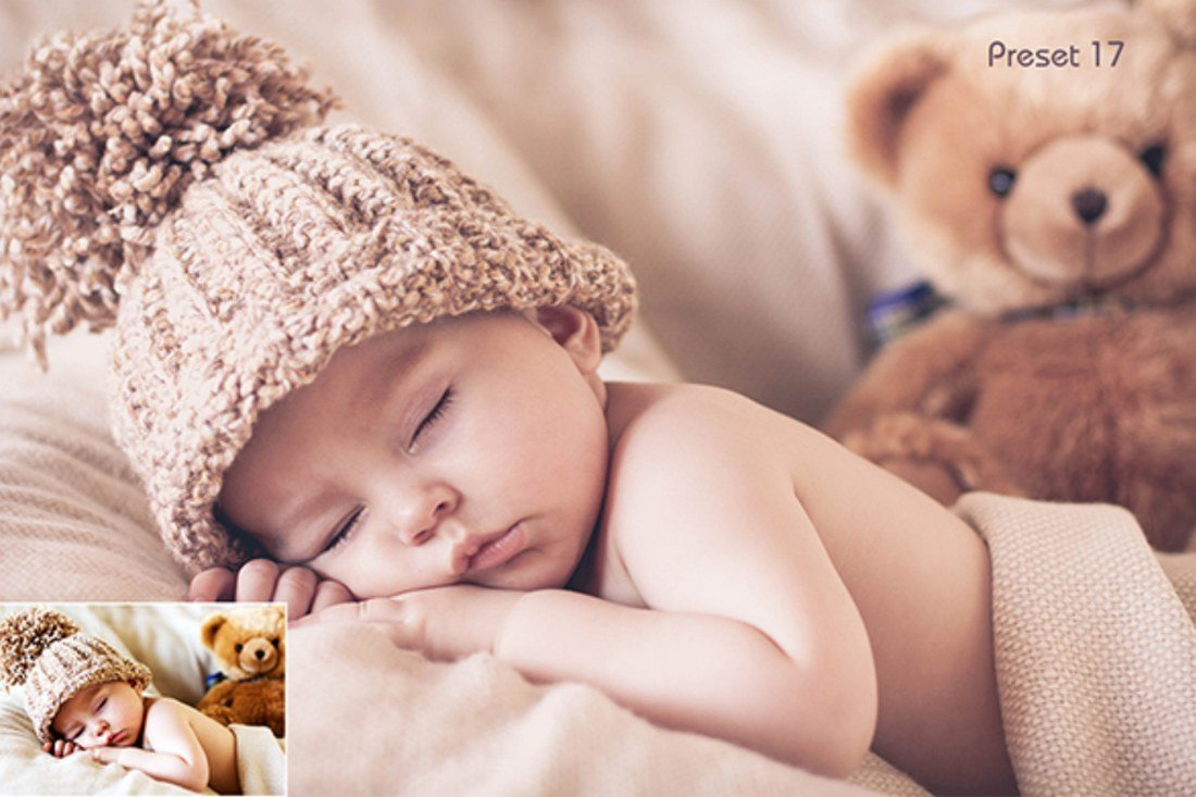 20-Sleeping-Baby-Presets 20 Best Newborn Lightroom Presets for Baby Photography design tips