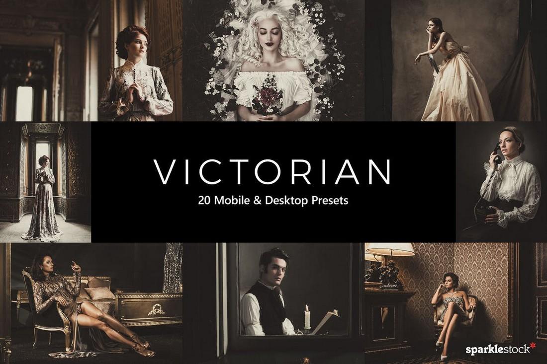 20 Victorian Lightroom Presets & LUTs