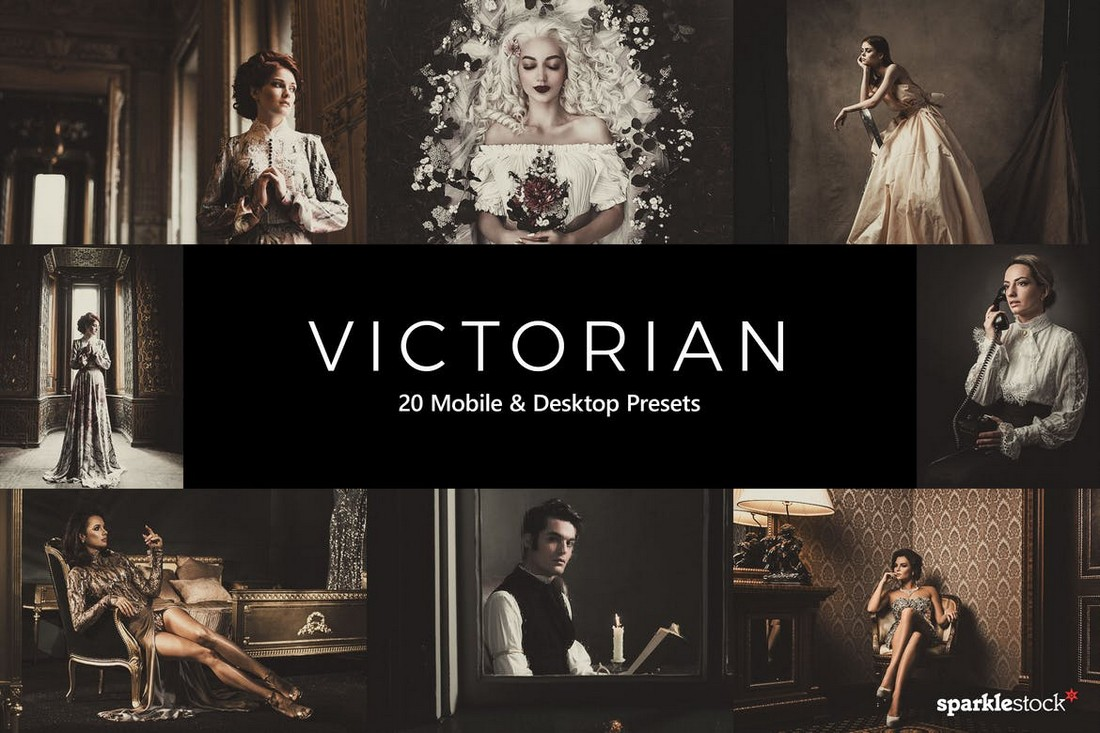 20 Victorian Wedding Lightroom Presets & LUTs