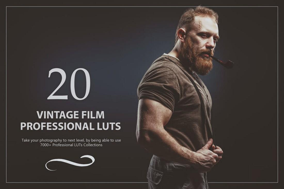 20 Vintage Film Lightroom LUTs Pack