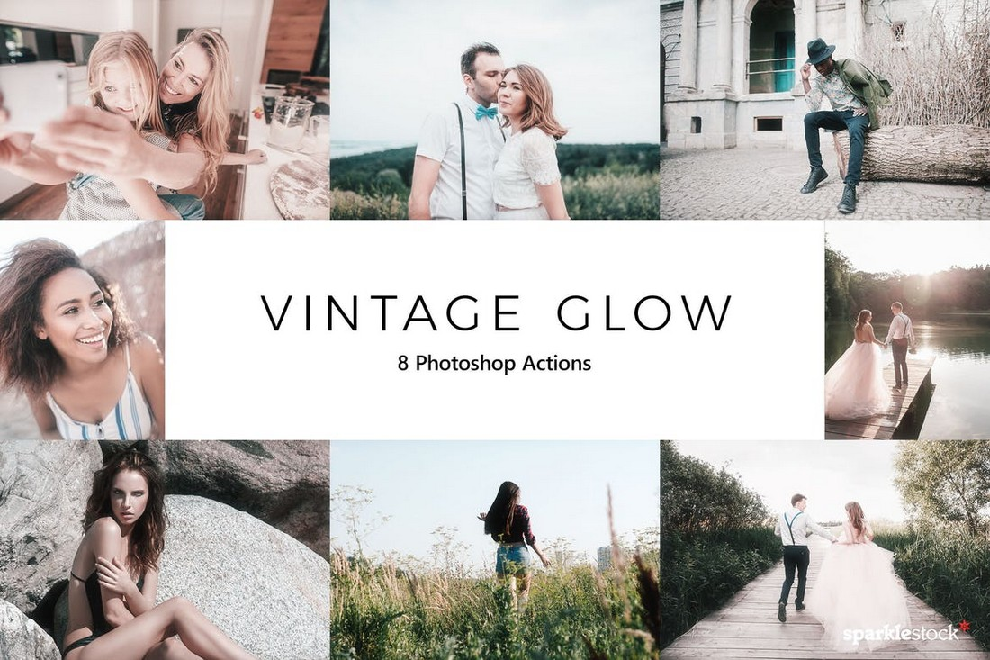 20 Vintage Glow Photoshop Actions