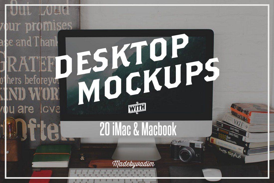 20-iMac-Macbook-Screen-Mockups 40+ iMac Mockup PSDs, Photos & Vectors design tips