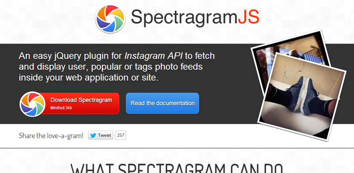 instagram api spectreagram jquery open source plugin