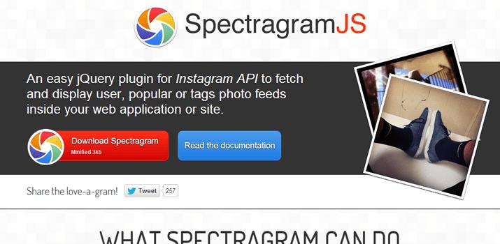 instagram api spectreagram jquery open source plugin