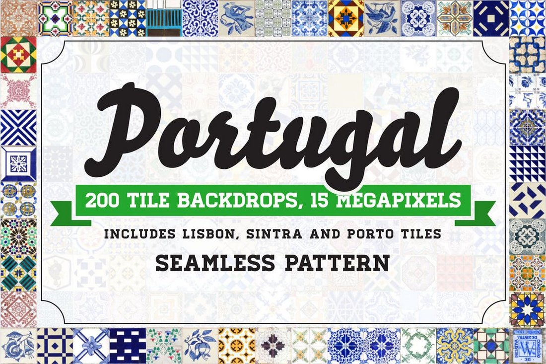 200-Seamless-Portugal-Azulejo-Tile-Backgrounds 50+ Best Free Photoshop Patterns 2021 design tips