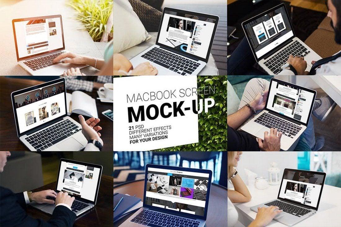 21-MacBook-Pro-Screen-Mockups 100+ MacBook Mockup Templates (PSD & Vector) design tips