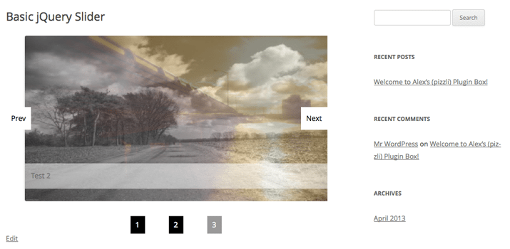 basic jquery slider plugin wordpress