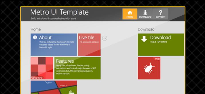 metro user interface layout webapp php testing