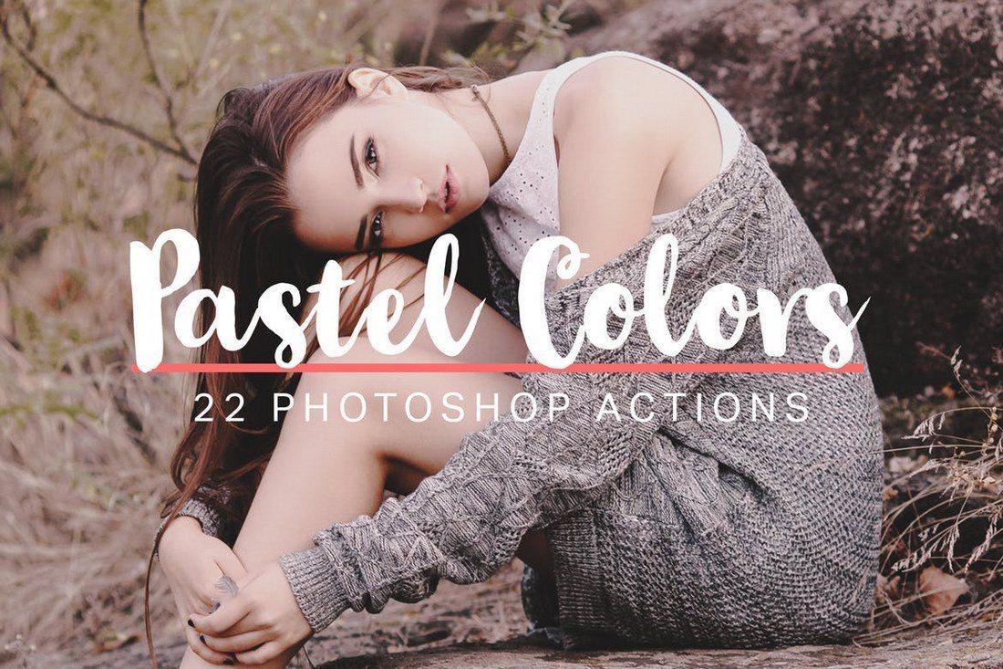 22-Soft-Pastel-Photoshop-Actions 20+ Best Portrait Photoshop Actions design tips