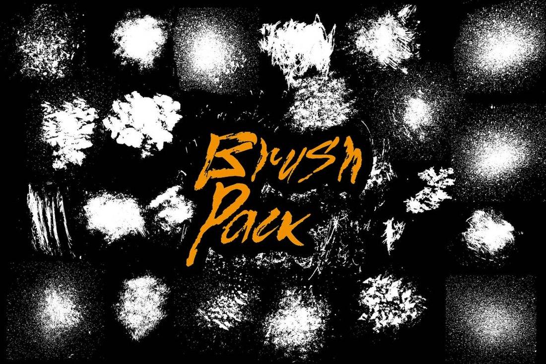 22-Splatter-Brushes-Pack 30+ Best High-Quality Photoshop & Illustrator Brushes design tips