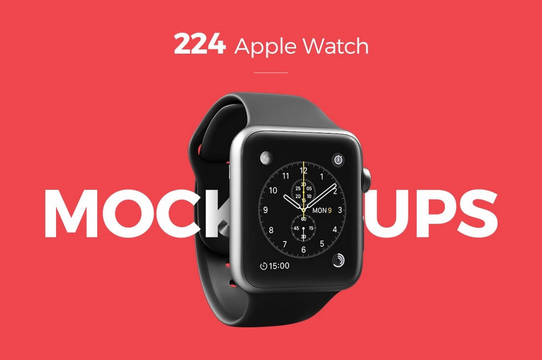 224-Apple-Watch-Mockups 50+ Apple Watch Mockups & Graphics design tips