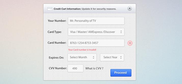 credit card ui interface form website freebie download