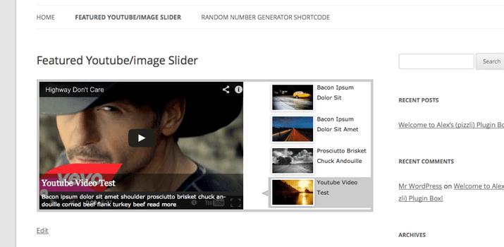 featured wordpress image slider plugin open source