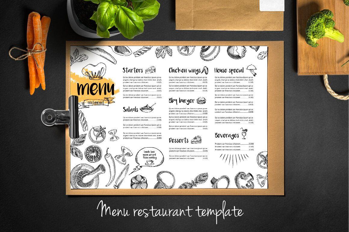 24-8 50+ Best Food & Drink Menu Templates design tips
