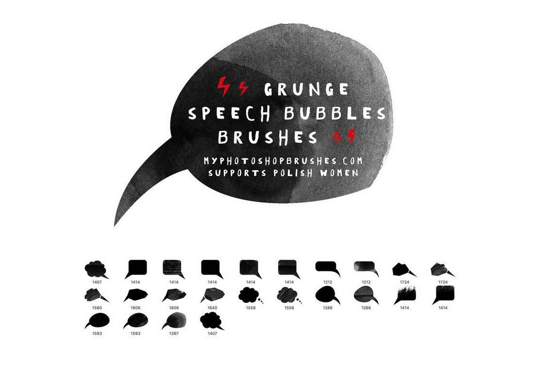 24 Free Grunge Speech Bubbles