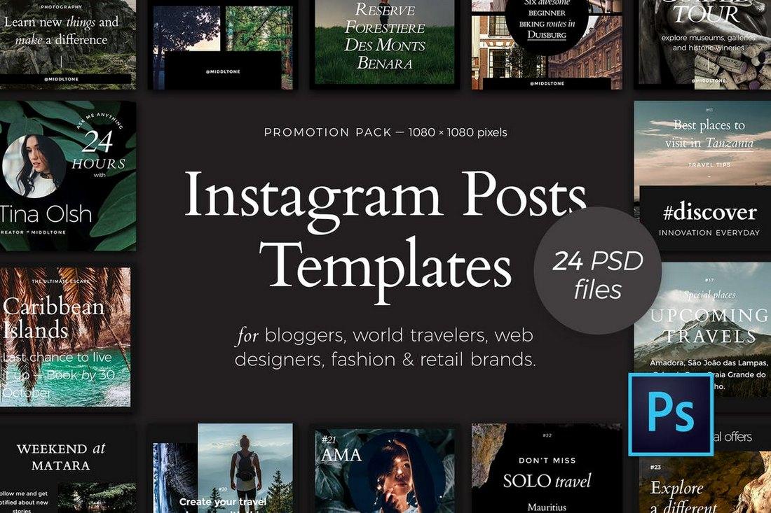 24 Instagram Posts Templates