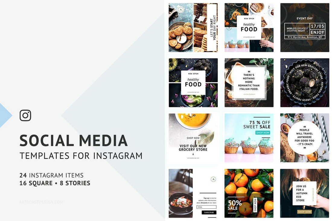 24-Instagram-Templates 20+ Best Social Media Kit Templates & Graphics design tips