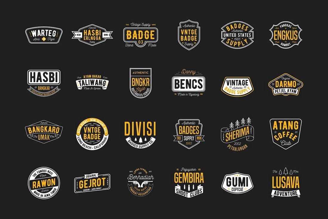 24-Vintage-Badges-Sign-Templates 20+ Best Sign Templates & Mockups design tips