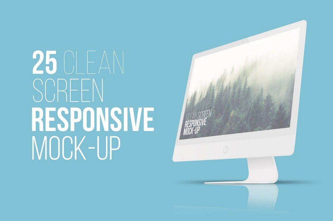 25-Clean-Screen-Responsive-Mockups 20+ Best Responsive Website & App Mockup Templates design tips