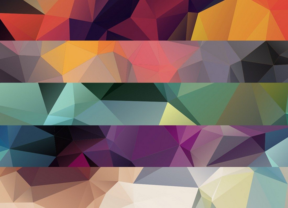 25-Colorful-Polygon-Backgrounds 20+ Beautiful Geometric & Polygon Background Textures design tips