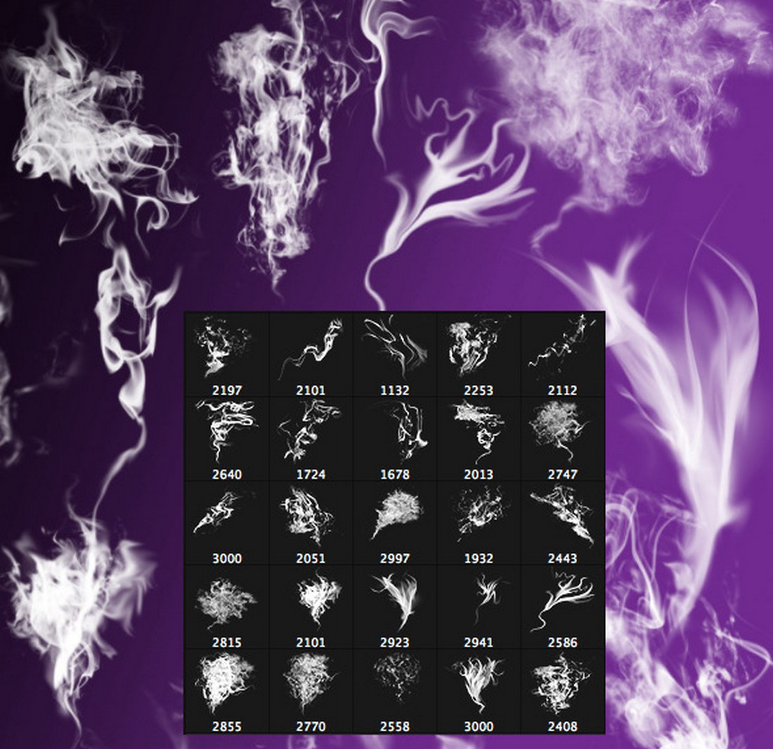 25-Creative-Photoshop-Smoke-Brushes 15+ Best Photoshop Smoke Brushes design tips