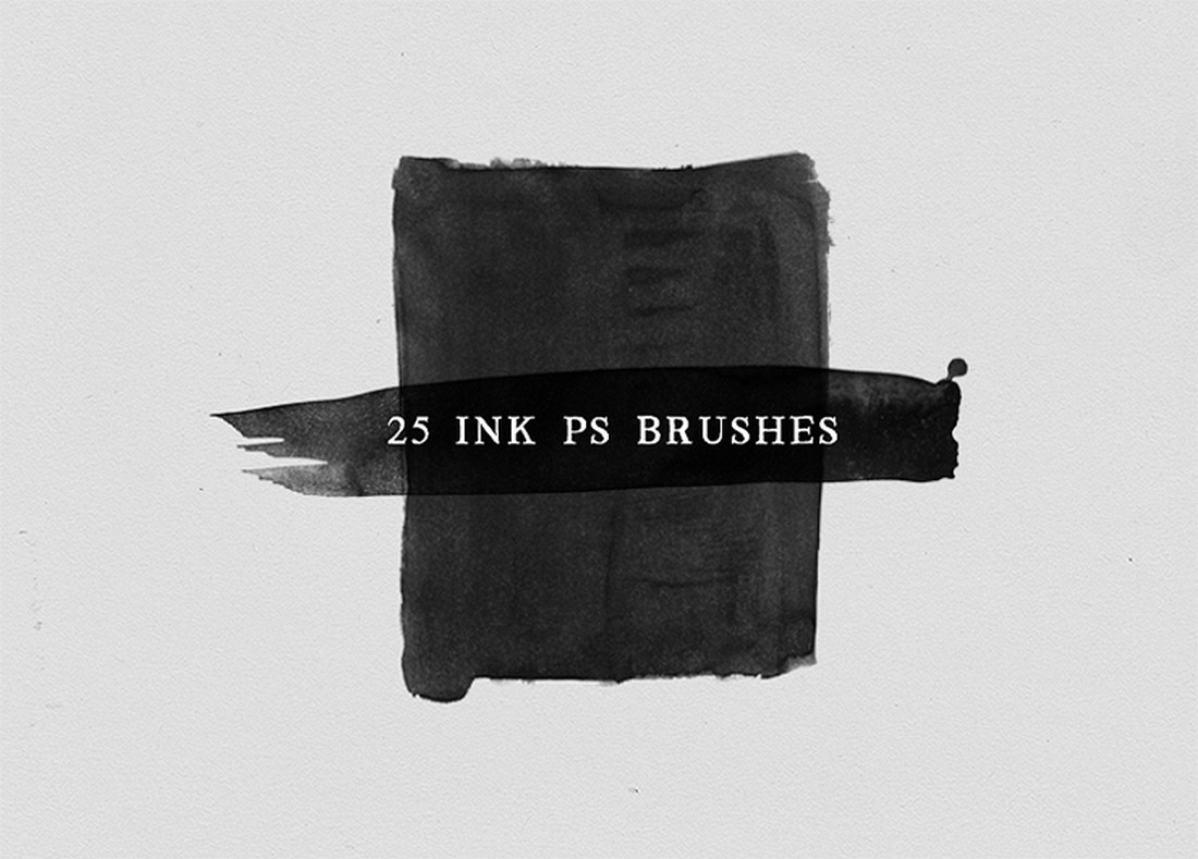 25 Free Ink and Watercolor Photoshop Brushes