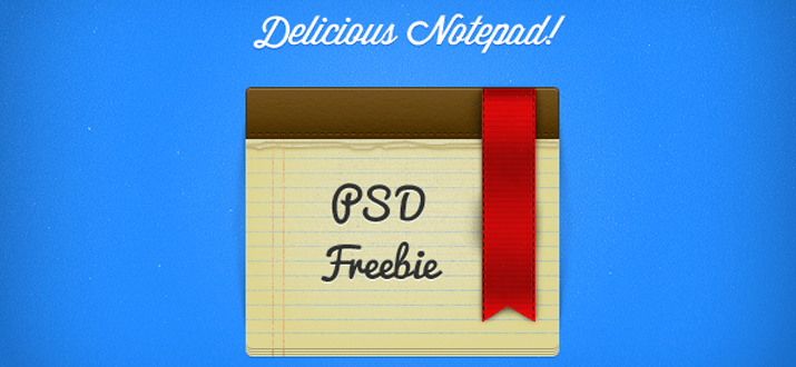 notepad psd freebie download website graphics