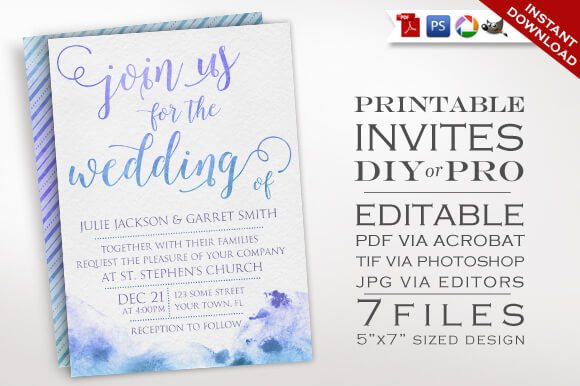 Gorgeous Wedding Invitation Templates Design Shack - Diy template wedding invitations