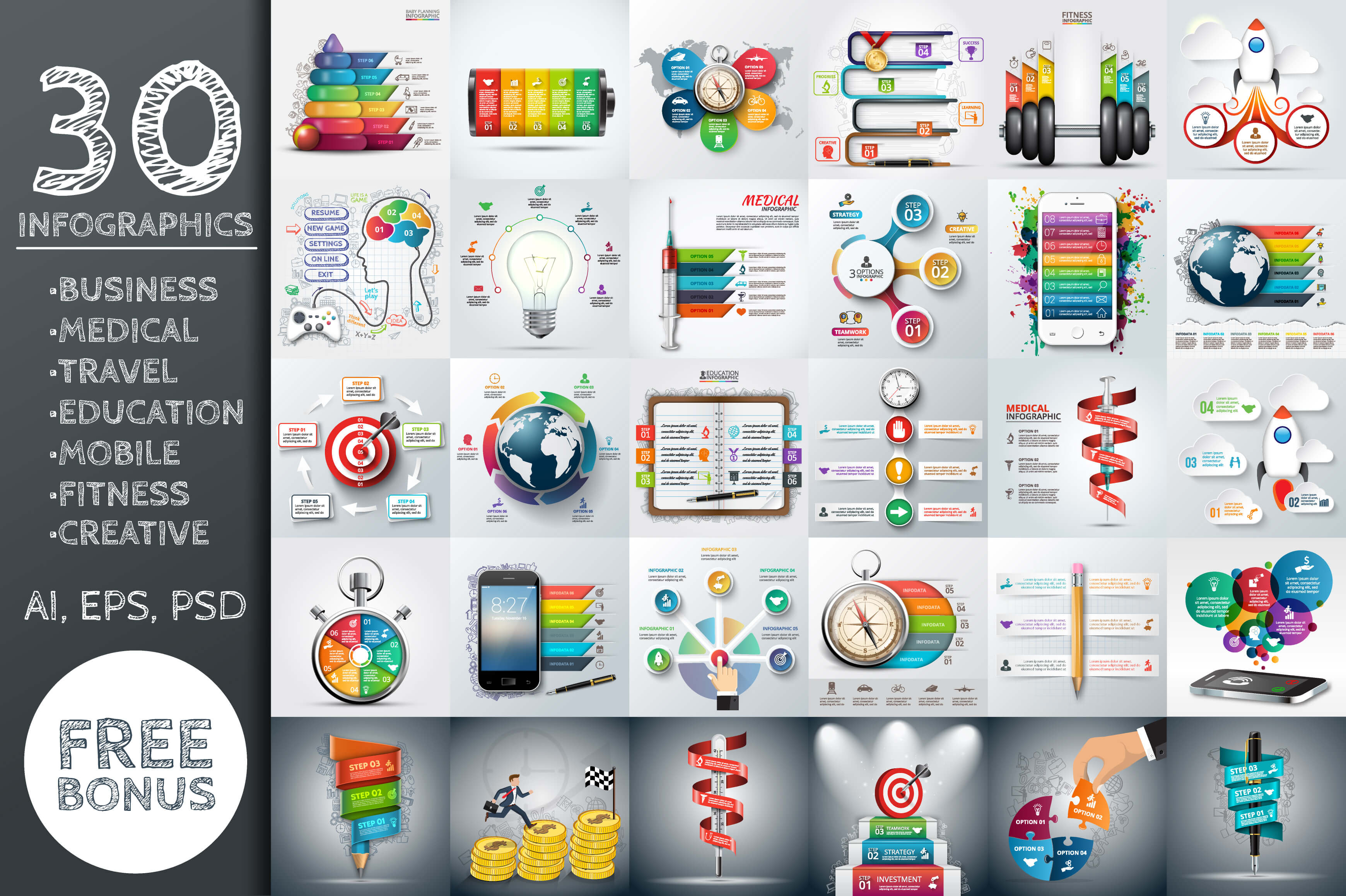 26-3 40+ Best Infographic Templates (Word, PowerPoint & Illustrator) design tips