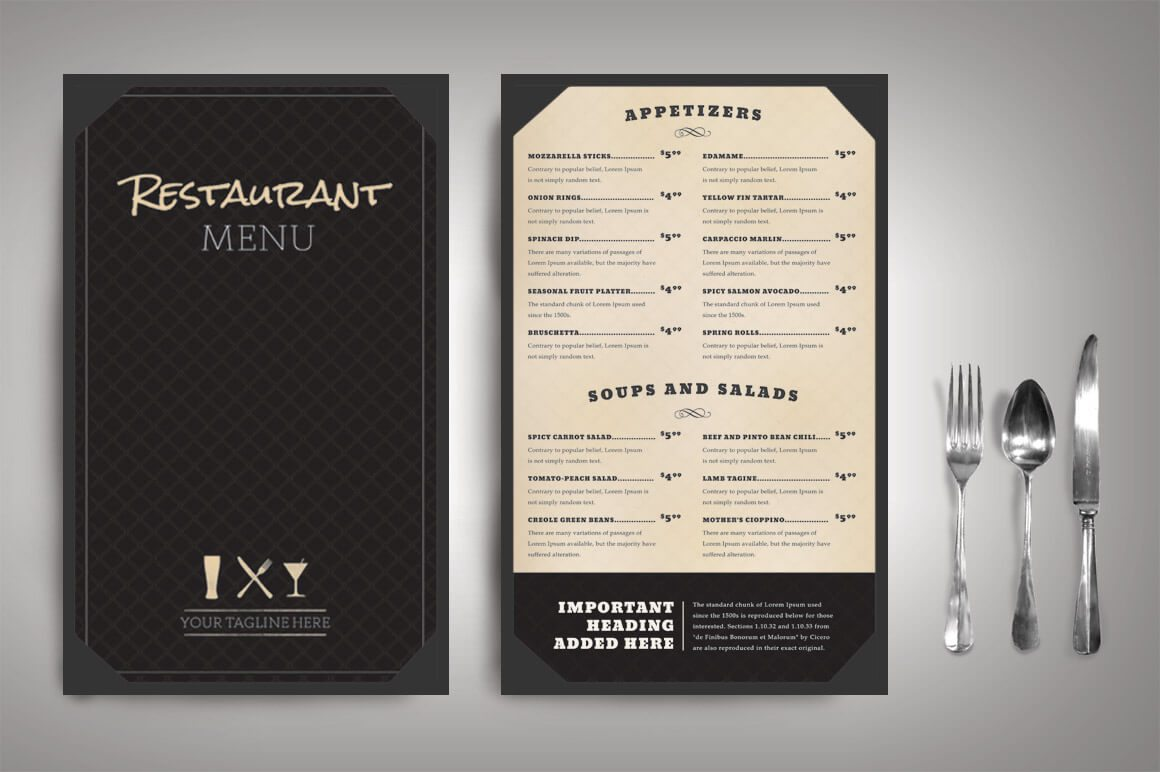 30 best food drink menu templates design shack for Idee de menu original