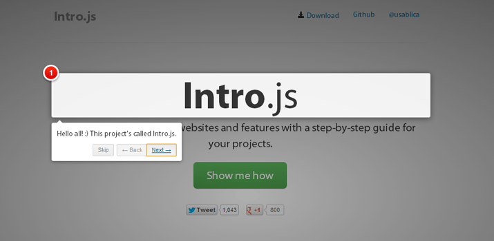 intro tour guided website functions jquery plugin
