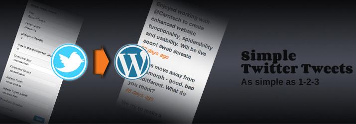 simple twitter tweets plugin wordpress