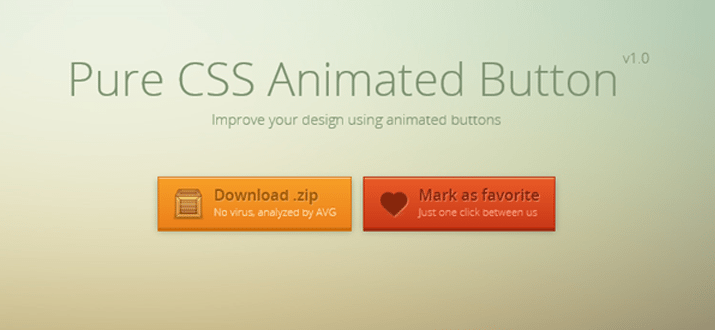 pure css animated buttons website freebie download