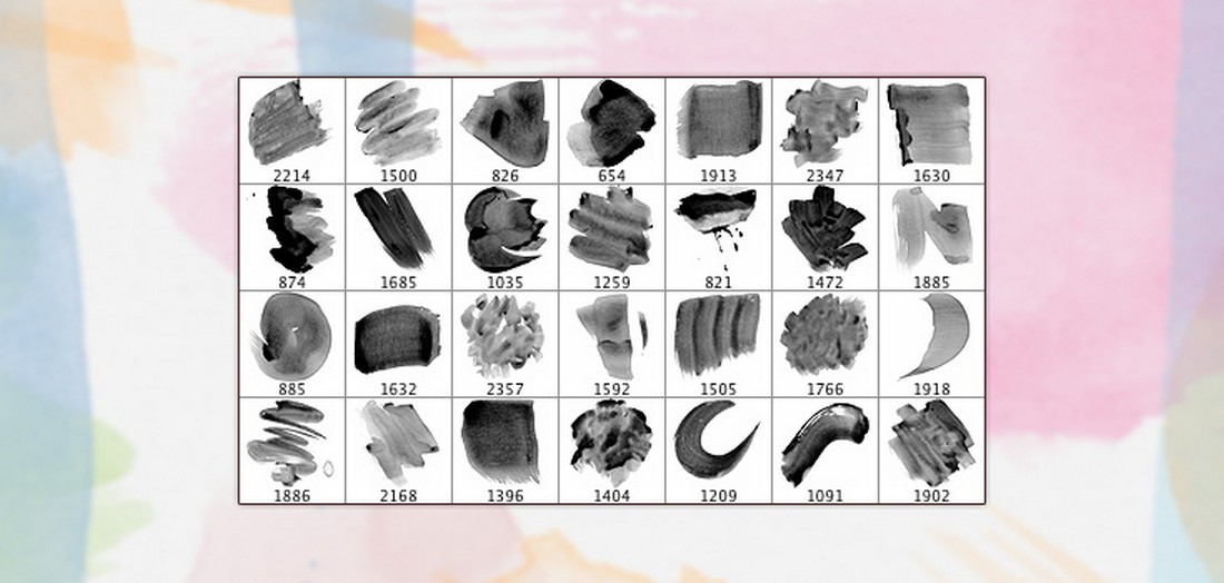 28 Free High Resolution Watercolour Brushes