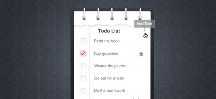 todo list website interface papers freebie psd download