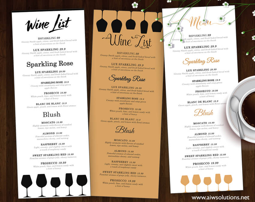 50 best food drink menu templates design shack. Black Bedroom Furniture Sets. Home Design Ideas