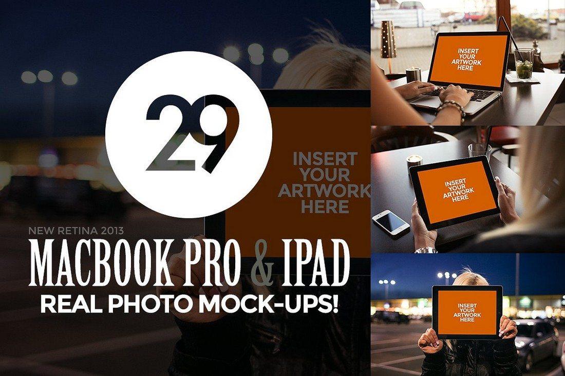 29-MacBook-and-iPad-Photo-Mock-Ups 100+ MacBook Mockup Templates (PSD & Vector) design tips